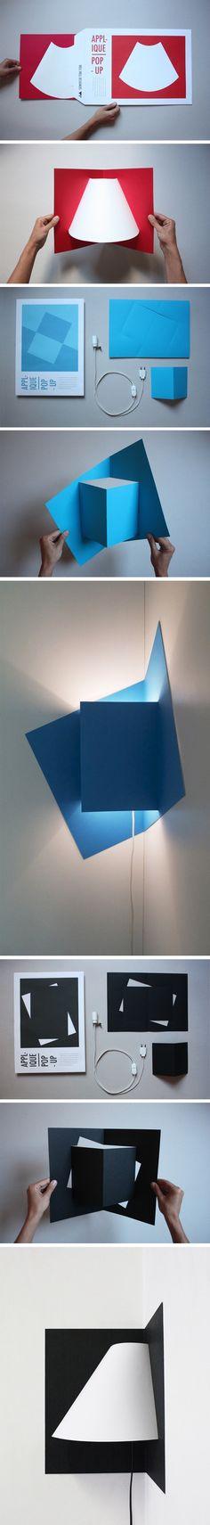Pop-Up Light par Well Well Designers : http://www.journal-du-design.fr/design/pop-up-light-par-well-well-designers-27277/