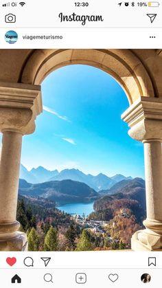 Vista do castelo Neuschwanstein, Alemanha