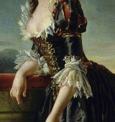 """Portrait of Louise-Elisabeth of France with her Son"" (1788) (detail) by Adélaïde Labille-Guiard (1749-1803)."