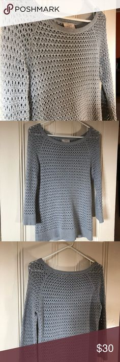 Gray woven sweater from Ann Taylor Loft. Cute and comfortable for winter. Gently used, but in beautiful condition. Price is negotiable. LOFT Sweaters Crew & Scoop Necks