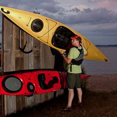The Moose Rack Kayak Storage: Your premium folding craddle kayak rack system. Made in the United States; Made in Michigan