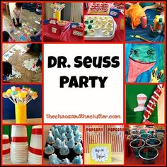 Awesome Dr. Seuss Party - games, themed food, crafts, activities, treats