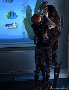 Garrus and Shepard / Mass Effect Mass Effect Ships, Mass Effect Garrus, Mass Effect 3, Mass Effect Universe, Commander Shepard, Animal 2, Dragon Age, Video Games, Things I Want