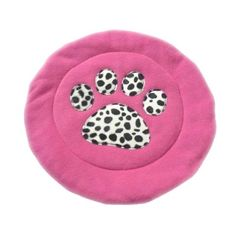 Pink Dalmation Print Fleece Cat And Small Dog Bed Mat £15