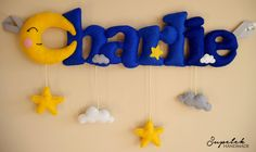 Felt name banner, Baby's room decoration, Nursery decoration - MADE TO ORDER