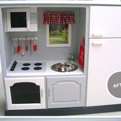 Cute DIY kids kitchen