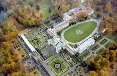 garden of Wilanów Palace in Warsaw, Poland