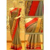 attractive-grey-color-designer-saree