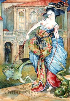 Omar Rayyan. Watercolor.