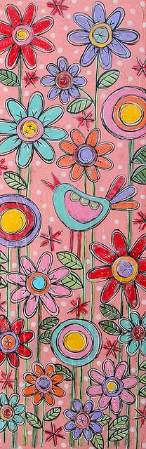 juju song original mixed-media painting by gina mckinnis Mixed Media Painting, Silk Painting, Art Journal Inspiration, Painting Inspiration, Whimsical Art, Art Plastique, Doodle Art, Flower Art, Art Flowers