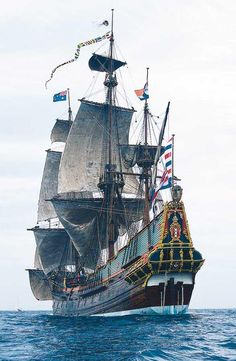 Aye, I be ready to set sail in this mighty fine ship. Hoist the sails!  #pirates. Batavia.