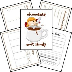 Chocolate Unit Study and Lapbook Printables unit by Jennifer Unsell printables by Ami Brainerd The Chocolate Touch, Chocolate Chocolate, My Father's World, Media Literacy, School Themes, School Ideas, Thematic Units, Chocolate Factory, Fun Learning
