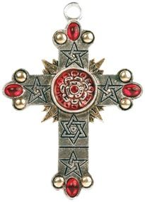 The Rose Cross, High Magick Designed by S.L. MacGregor Mathers, the head of The Order of the Golden Dawn and combining the elements, the planets and the 22 paths this extraordinary cross can be the key to initiation on the Path to High Magick. To be empowered to any High Purpose.