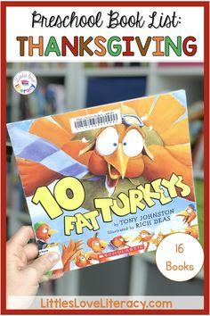 20+ Thanksgiving & Turkey Books for Preschool and Pre-K