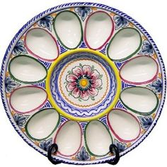 Ceramic Deviled-Egg Plate from Spain by From Spain, Inc