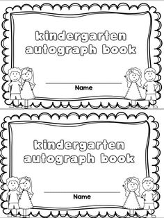 FREE Autograph book!  Pages for Prek-2nd grade!  Great for end of the year celebrations!