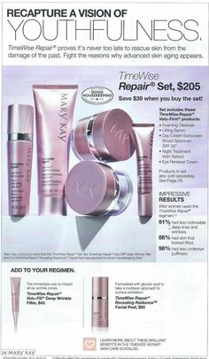 This is the perfect set to address advanced skin care aging and past skin damage. Mary Kay Perfume, Timewise Repair, Selling Mary Kay, Advanced Skin Care, Beauty Salon Decor, Beauty Consultant, Lipstick, Flyers, Makeup Tips