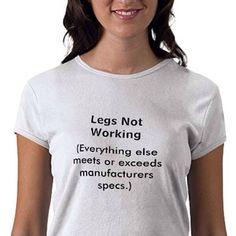 5bf6dcb3 Lol shirt Disability Quotes, Disability Awareness, Quadriplegic, Wheelchair  Accessories, Myasthenia Gravis,
