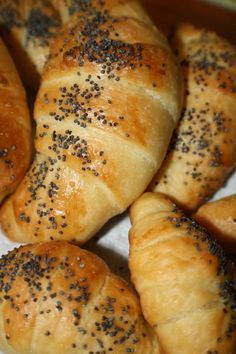 You will find here various recipes mainly traditional Romanian and Mediterranean, but also from all around the world. Pastry Recipes, Bread Recipes, Romanian Food, Pastry And Bakery, Croissant, Bagel, Food And Drink, Appetizers, Sweets