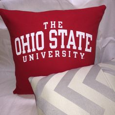 A personal favorite from my Etsy shop https://www.etsy.com/listing/270029022/osu-ohio-state-university-t-shirt-pillow