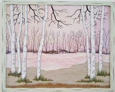 """""""Birken"""", 40 x 50 cm"""