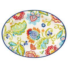 Certified International San Marino by Joyce Shelton Oval Ceramic Serving Platter 16''x12''