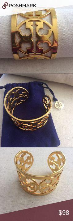 Tory Burch gold cuff bracelet PRICE FIRM. Tory Burch gold cuff bracelet. Comes in dust bag. PRICE FIRM. Tory Burch Jewelry Bracelets