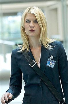 "Claire Danes as Carrie Mathison in ""Homeland"" – My CMS Homeland Tv Series, Carrie Mathison, Spy Shows, Showtime Series, Birthday Hair, Netflix, Claire Danes, Wardrobe Design, Blonde Women"