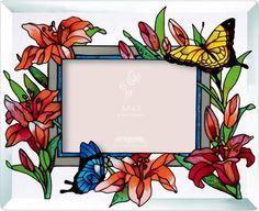Joan Baker Designs PFB3510 Butterflies/Lilies Art Glass Photo Frame Joan Baker Designs http://www.amazon.com/dp/B007VGIYIQ/ref=cm_sw_r_pi_dp_o-Flub0VMF75C