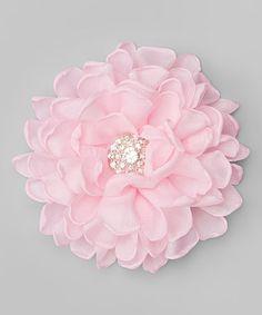 Look at this #zulilyfind! Light Pink Vintage Flower Clip #zulilyfinds