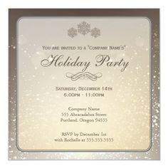 Elegant Holiday Party Company Invitation Graduation Party Invitations, Christmas Party Invitations, Elegant Invitations, Invitation Design, Snow Party, Baby Shower Invitation Templates, Holiday Parties, Inspirational, Parties