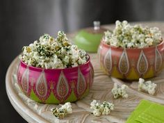 Kale Lime Popcorn - Yield: 10 cups
