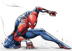 Discover recipes, home ideas, style inspiration and other ideas to try. Spiderman Poses, Spiderman Drawing, Black Spiderman, Spiderman Spider, Amazing Spiderman, Marvel Comics Art, Marvel Heroes, Marvel Drawings, Comic Kunst