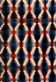 Shibori cloth by Master Motohiko Katano (1889-1975), a painter turned dyer, created a body of sublime shibori work using indigo and other natural dyes. via Shibori.org