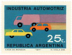 Argentina postage stamp: transportation by karen horton, via Flickr
