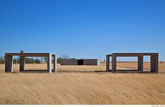 Donald Judd, 15 untitled works in concrete at the Chinati Foundation