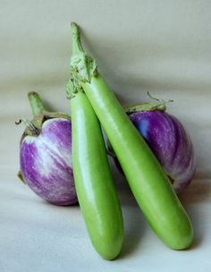 "Long Japanese eggplant Seeds ""Choryoku"" (Solanum melongen) Organic Asian Vegetable. 12"" in length, Very Productive !"
