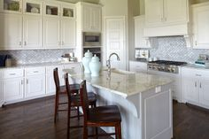 Cook in this beautiful kitchen from Saxony by Shaddock Homes at Inspiration #ShaddockHomesTX #KitchenDesign #Kitchen