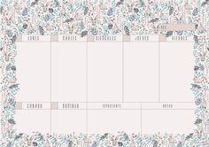 Cuquiland: Planificador semanal «Rabbits»