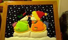 Imagen cuadropatchwor en patchwork sin aguja - grupos. Patchwork Patterns, Applique Patterns, Felt Crafts, Christmas Crafts, Diy Crafts, Quilting, Sunbonnet Sue, Small Quilts, Quilt Blocks