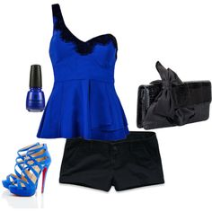 """""""Black and Blue"""" by jeanlovinggirl on Polyvore"""