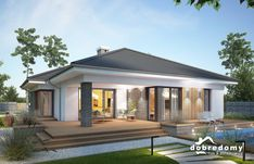 Modern Bungalow Exterior, Modern Bungalow House, Bungalow House Plans, Dream House Exterior, Dream House Plans, Modern House Plans, Two Bedroom House Design, Modern Small House Design, House Architecture Styles