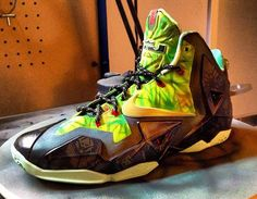 """Nike LeBron 11 """"Championship"""" Custom  """"Color blocking is nearly identical to the source of inspiration, and frankly, it's more fitting on the newer model."""""""