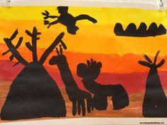 savane africaine-en-peinture