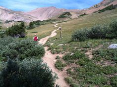 With fantastic mountain and valley views, elevation gain, and many wildflowers, the Herman Gulch Trail is a very popular area leading to the base of the