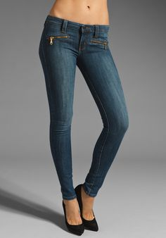 FRANKIE B. JEANS Zip Heart Skinny in Venus Blue at Revolve Clothing - Free Shipping!