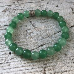 Green Aventurine Stretch Bead Bracelet for Luck, Prosperity, and to Revitalize Your Life Healing Bracelets, Crystal Bracelets, Crystal Beads, Gemstone Jewelry, Beaded Jewelry, Jewellery, Meditation Crystals, Jade Bracelet, Jade Beads