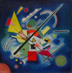 Vasily Kandinsky / Blue Painting / January 1924 / oil on canvas, mounted on board / Guggenheim Museum