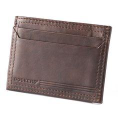 Men's Dockers® Leather Card Case Wallet, Brown