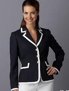 modelos de blazer social feminino Work Jackets, Jackets For Women, Work Suits, Work Wardrobe, Suit Fashion, Casual Street Style, Business Attire, Womens Fashion For Work, Tweed Jacket